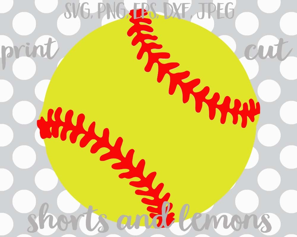 Softball Shorts And Lemons Nouns Vector Softball Svg