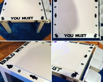 Customised Lego Building table with storage, Marvel, Batman, Star Wars, Lego , Duplo, Personalised