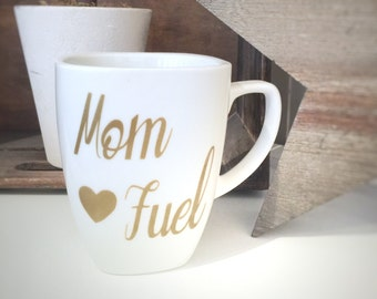 Coffee Mug, Mom Fuel, Gifts for Mom, Personalized Mugs, Gifts For Her, Custom Mug, Mug With Saying, Coffee Cup, Mom Mugs, Mom Coffee Cup