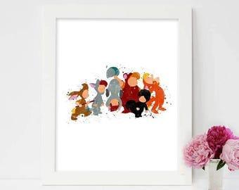 Disney, Peter Pan, Lost Boys, Inspired , Wendy Kids, Peter Pan Art, Peter Pan Lost Boy, Peter Pan Decor, Peter Pan Nursery, Lost Boys