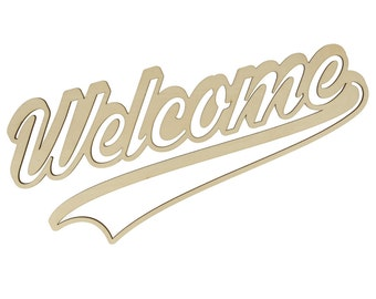 Silhouette Welcome to decorate - Support to decorate wooden - wooden Silhouette Deco wall wooden - wooden rack - wood - 14002330
