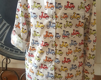 Age 5 years Oxford Shirt in scooter fabric