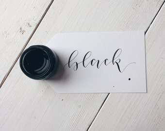 Black Calligraphy Ink. Coloured Ink. Modern Calligraphy Kit.