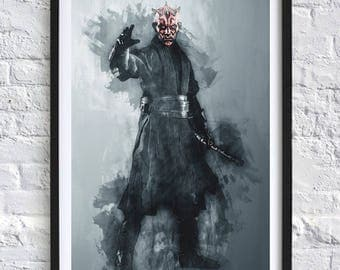 Star Wars - Darth Maul 'Watercolor' Digital Download