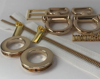 The Marchiel Hobo Hardware Kit is available in 5 Finishes.