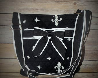 Monogrammed Fleur De Lis Messenger Bag, Monogrammed Cross body bag, Messenger Bag, Cross body bag, Personalized Messenger Bag,camo messenger