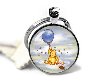 Winnie the Pooh Keychain Winnie Pooh Keyfob Piglet Winnie Pooh Balloon Flying Keyring