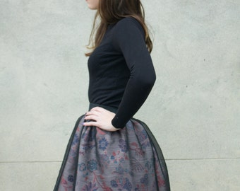 """Flowery"" flared skirt"