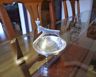 Silver Reindeer Handle Keepsake Bowl
