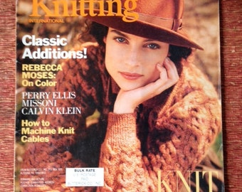 Vogue Knitting Magazine Fall 1989.
