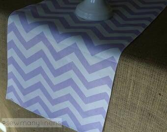 Lavender Purple Table Runner Chevron Stripe Wisteria Pastel Runner Dining  Room Home Decor Table Centerpiece Linens