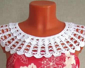 Воротник крючком Великолепный Crochet collar съемный воротничок