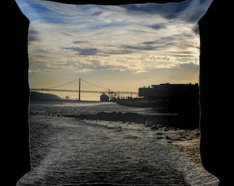 A Walk Along the Bridge Pillow