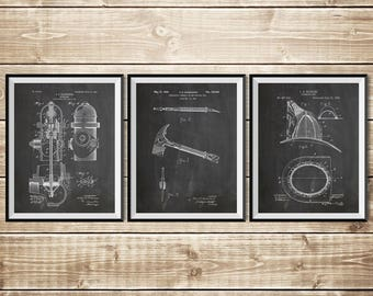 Fireman Printable, Patent Print Group, Firefighter Art Gift, Firefighter Wall Art, Fireman Art Gift, Firefighter Decor, INSTANT DOWNLOAD