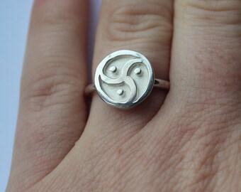 BDSM symbol silver ring