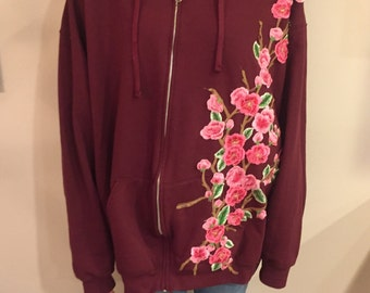 LF Inspired Embroidered Flower Hoodie