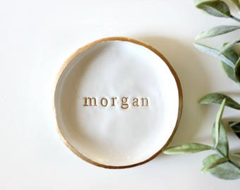 Personalized Name | Ring Dish | Jewelry Dish | Engagement Ring Dish | Custom Jewelry Dish | Bridesmaid Gift | Personalized Gift