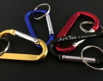 Custom aluminum CARABINER keychain