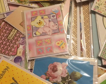 A pack of homemade cards