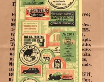 Traveler's Note 2017 Limited Plastic Sheet Regular Size 40218006 Traveler's Factory Midori Designphil