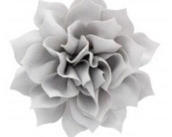"3.5"" Gray Hair Flower Clip   Boutique Bow   Hair Bows   Headband   Girls   Baby"