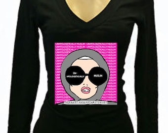 Ladies V-neck Long sleeve Tee