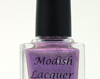 "Purple Holo Nail Polish ""Purrrple"""