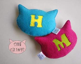 Monogram Cat Toy , Monogram Catnip toy, Monogram Valerian toy