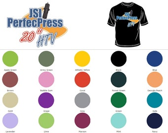 "12"" x 20"" PerfecPress Heat Transfer Vinyl Sheets 33% MORE MATERIAL!"
