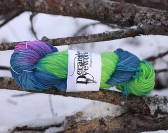 Northern Lights - Hand Dyed Superwash Merino/Cashmere/Nylon (80/10/10) - DK/Sport Weight