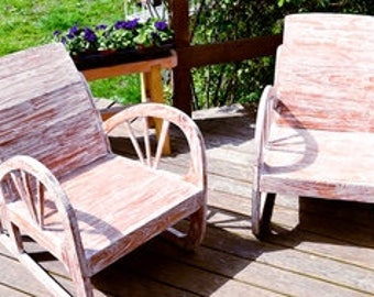 Upcycled Teak Armchairs