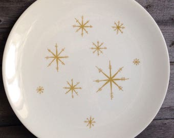 Vintage Atomic Star Glow Royal Ironstone China Dinner Plate | Royal China