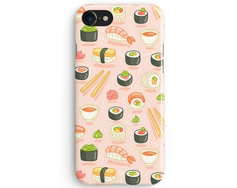 Sushi pattern - iPhone 7 case, Samsung Galaxy S7 case, iPhone 6, iPhone 7 plus, iPhone SE, iPhone 5S, 1C036A