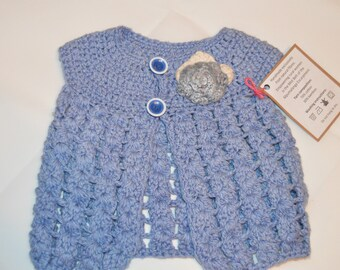 0 - 6 Months Girls' Blue Cardigan