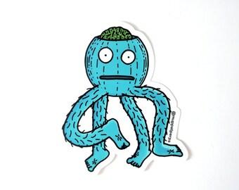 Woolie Man Monster Sticker