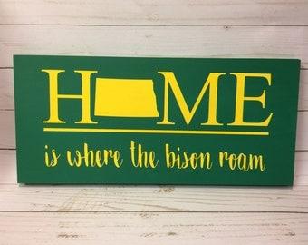 NDSU Bison North Dakota Home Sign