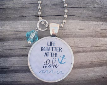 Life is Better at the Lake Necklace