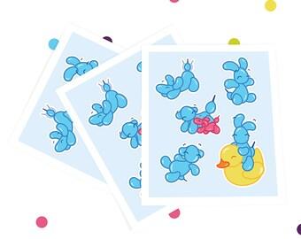 "Sticker sheet ""BEEDS the BEEDLING Laptop Sticker Cute Sticker Funny Stickers"