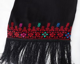 Palestinian Embroidery Scarf