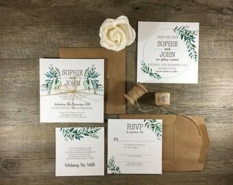 Invitation Suite | The Botanist | Foliage Rustic Wedding Invitations