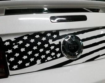 American Flag Distressed Decal Trunk Mustang Merica 2005-2009