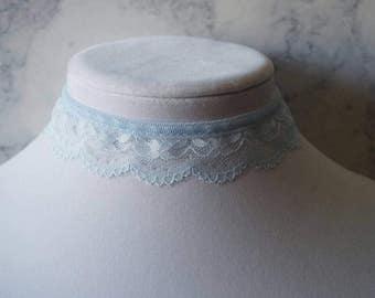 Light Blue Lace Choker