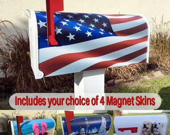 Mailbox with choice of 4 Stunning Magnetic Covers