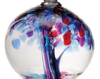 fairy garden art glass one of a kind glass orb