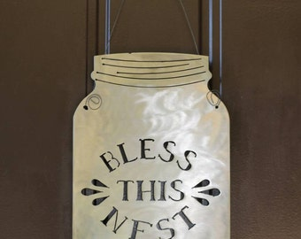 "Steel Jar Signs.  Choice of 11''x18'' or 8-1/2""×13-1/2"" and choice of wording"