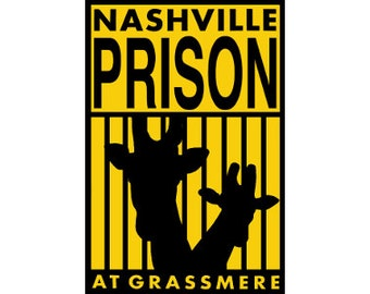 "Nashville Prison Sticker 3""x4.5"" Zoo"