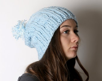 Icy Cable Knit Beanie