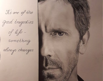 Doctor House Hugh Laurie portrait