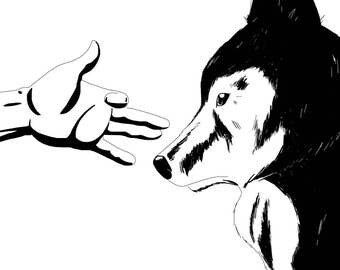 The Wolf and the hand