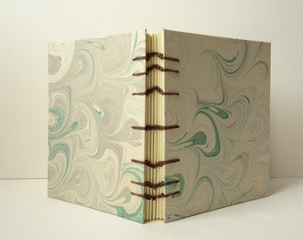 Tan and Green Marbled Journal
